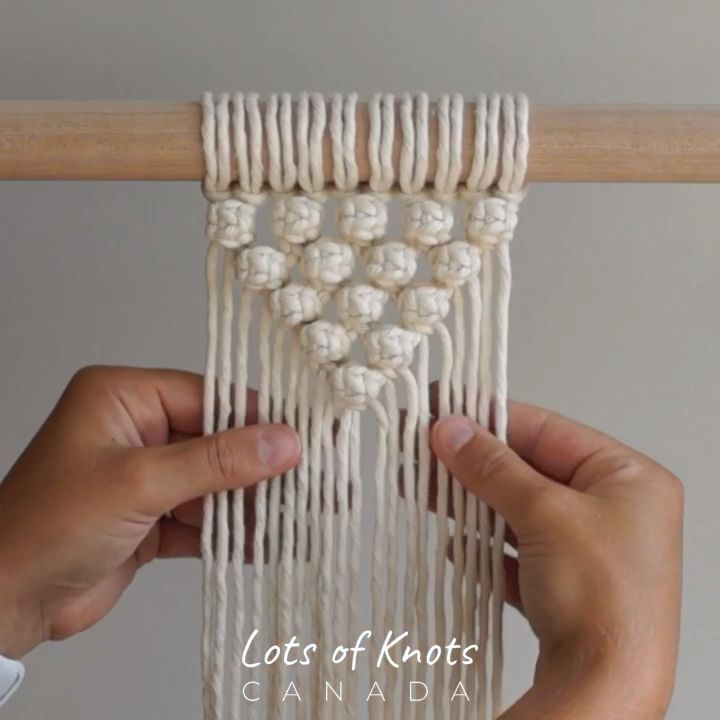 DIY Macrame Tutorial – How To Start Your Work Using Berry Knots! Semi-Circle Pattern – YouTube