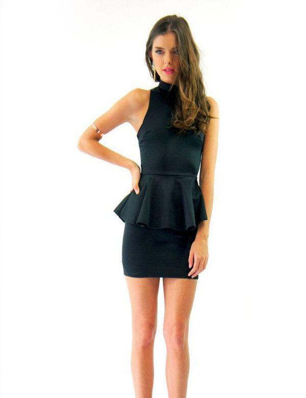 HEAVEN PEPLUM DRESS BLACK Lioness $75.00 NZD http://www.fash.co.nz/afawcs0159551/CATID=1/ID=920/SID=665943798/Heaven-Peplum-Dress-Black.html