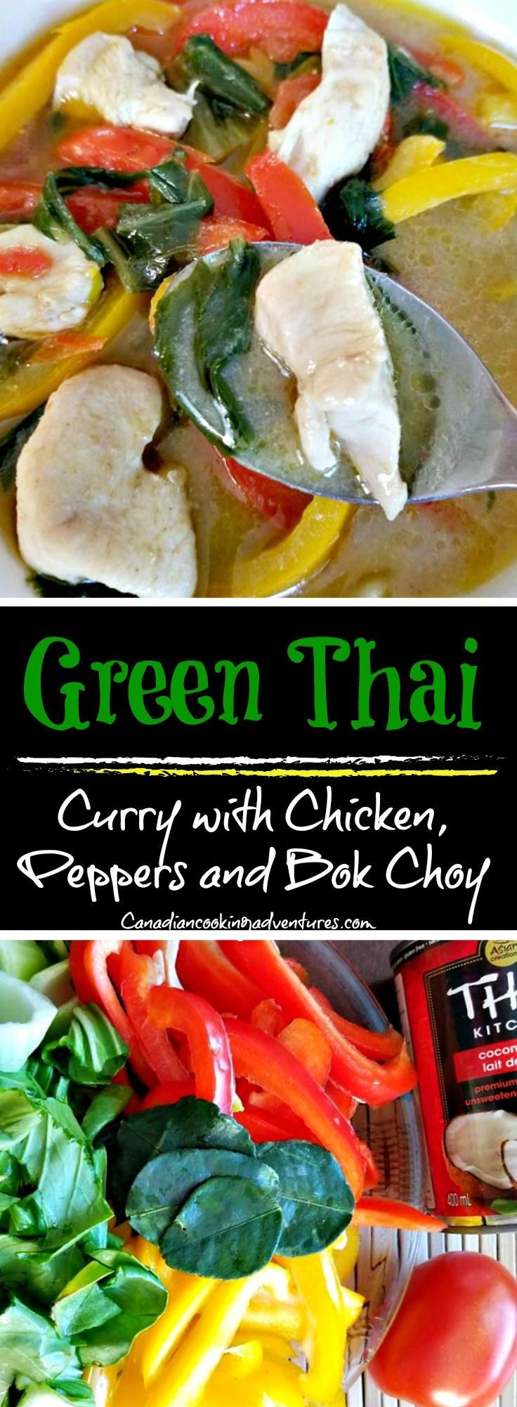 Green Thai Curry with Chicken, Peppers and Bok Choy