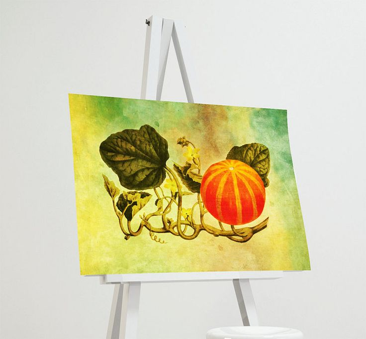 Vintage Victorian Pumpkin Print Kitchen Fall Decor by WeLoveCMYK
