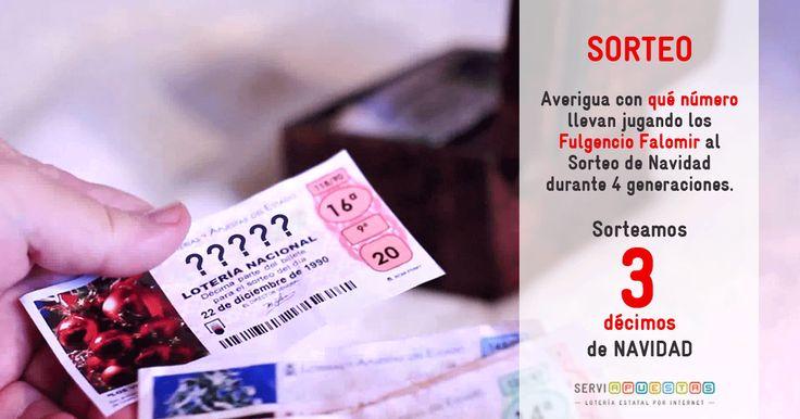 Dinos con qué número juegan los Fulgencio Falomir. Sorteamos 3 décimos de Navidad.