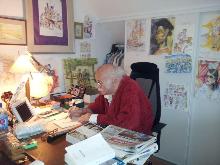 Albert TUNESI dans son atelier - 2015