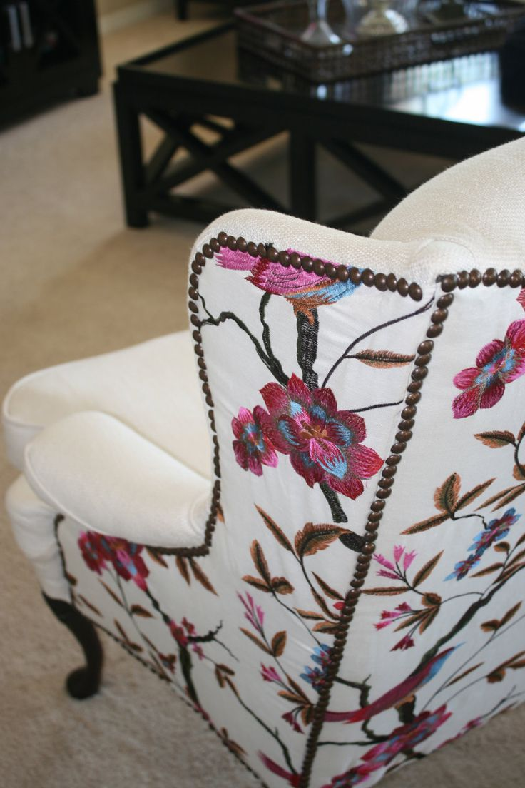 Cardinal Wing Back Chair - Business in the front, Darling in the back!!