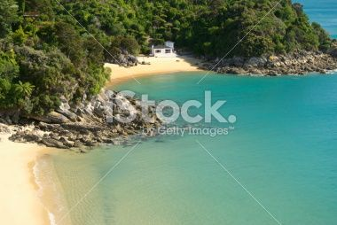 Honeymoon Bay, Abel Tasman National Park, New Zealand Royalty Free Stock Photo
