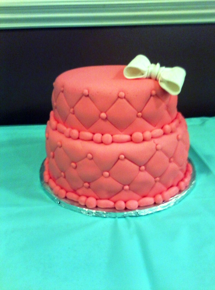 16th birthday cake- teal and coral :) | Love these ...