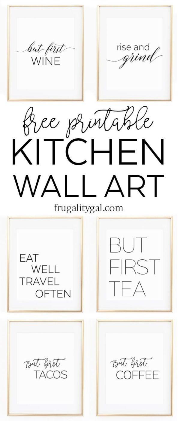Kitchen Gallery Wall Printables   Free Printable Wall Art ...
