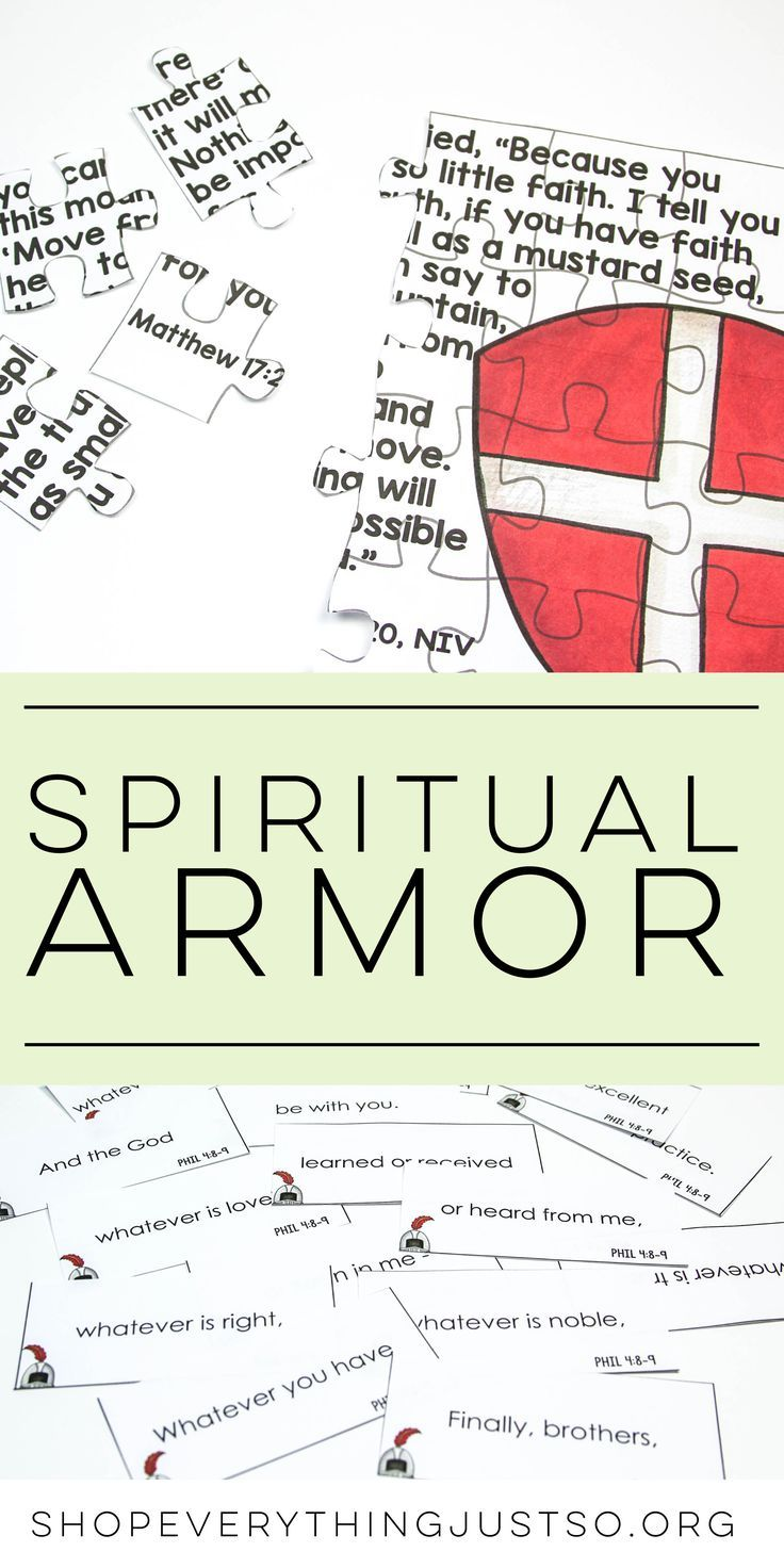 The Armor of God | shopeverythingjustso.org | Resources to help reinforce and remember the Spiritual Armor of God. Includes CLOZE reading practice, puzzles, illustrating verses, posters, and more.