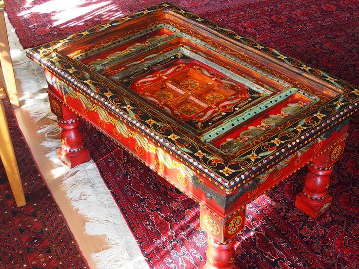 Antik Look Kolonialstil Orient Teetisch Tisch Couchtisch Afghanistan