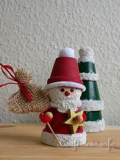 Christmas Crafts For Adults   Basic Christmas Craft Ideas - Clay Pot Crafts - Clay Pot Santa Claus