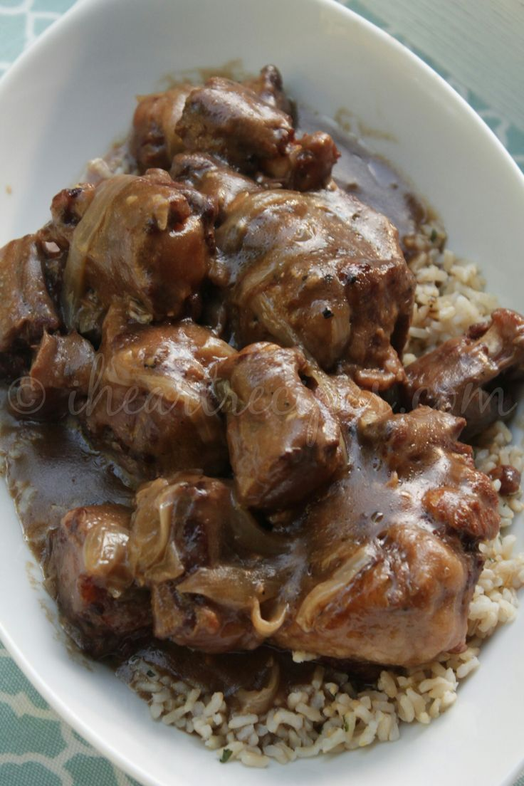Southern Smothered Oxtails made in the slow cooker!                                                                                                                                                                                 More