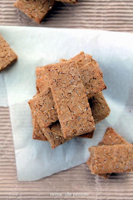 Biscotti con farina di castagne e riso. Gluten free.