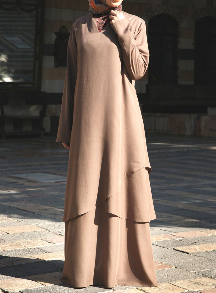 SHUKR USA | Modal Asymmetrical Layered Abaya