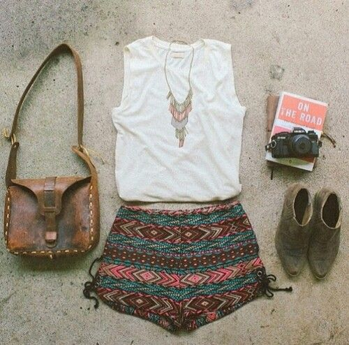 ♡ Clothes Casual Outfit for • teens • movies • girls • women •. summer • fall •…