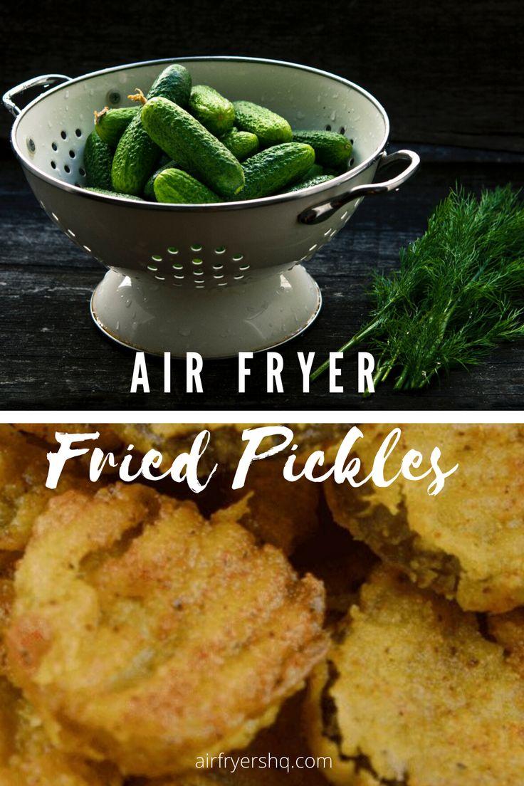 Air Fryer Crispy Fried Pickles in 2020 Fried pickles