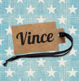 Geboortekaartje   Vince Jongen, label, stoer, sterren, retro