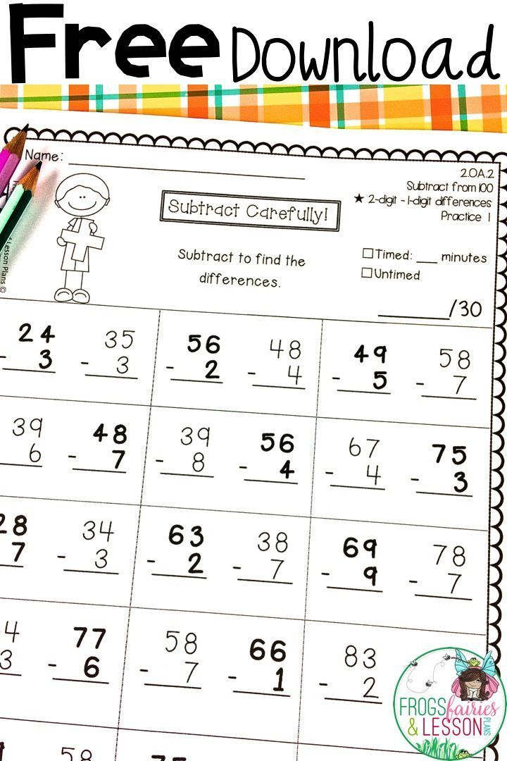 Free Second Grade Math Practice Worksheets Math Practice Worksheets Math Practices Second Grade Math