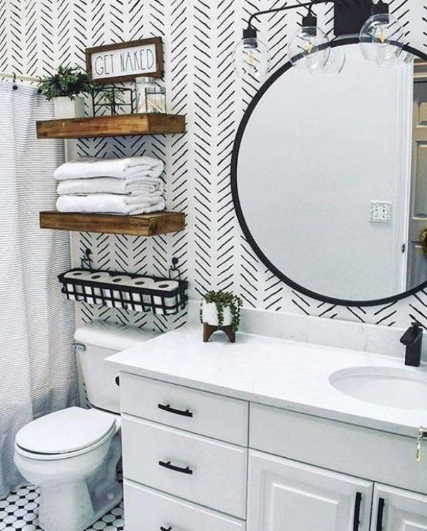8 Small Bathroom Decorating Ideas You Have To Try Decorating Ideas Living Room Decor Wall Decor In 2020 Small Bathroom Decor Bathroom Accent Wall Bathroom Decor