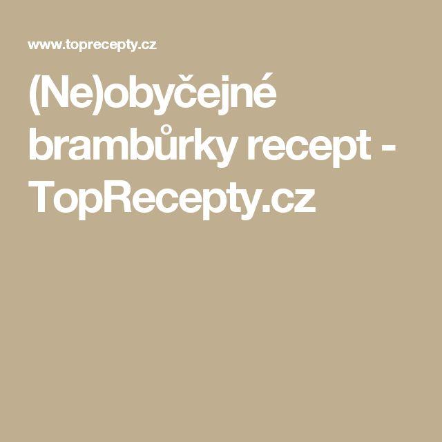 (Ne)obyčejné brambůrky recept - TopRecepty.cz