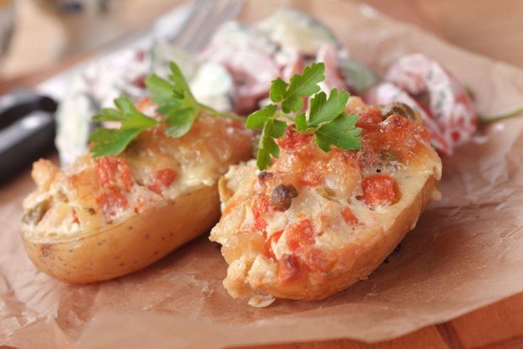 Zapekané zemiaky s plnkou