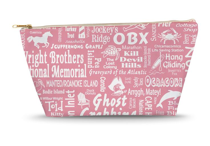 Outer Banks Location Large Accessory Bag (PINK)