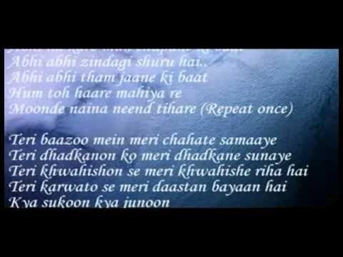 Abhi Abhi to Mile ho Jism 2 with Lyrics By Haris soomro