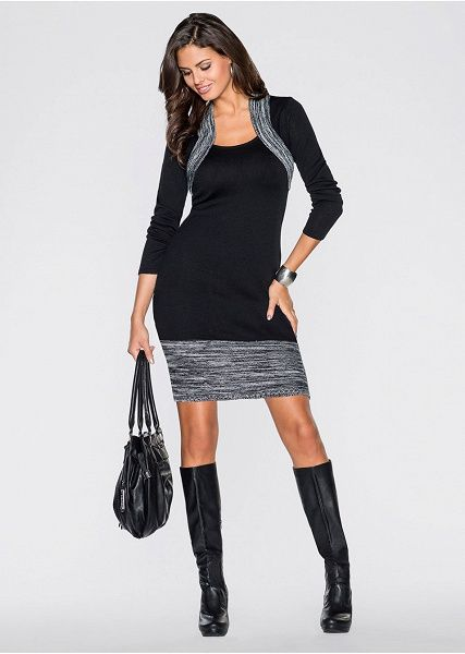 Úpletové šaty Ženské úpletové šaty s • 22.99 € • bonprix