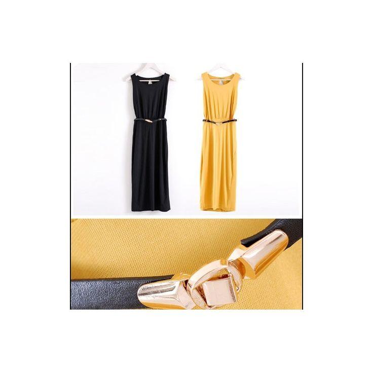 Maxi Dress LD128-Black Model  10118615 Condition  New  LD128 Yellow-black cotton bust90-100 waist60-100 length122 330gr Retail price IDR184,000Reseller price IDR138,000Wholesaler price IDR115,000