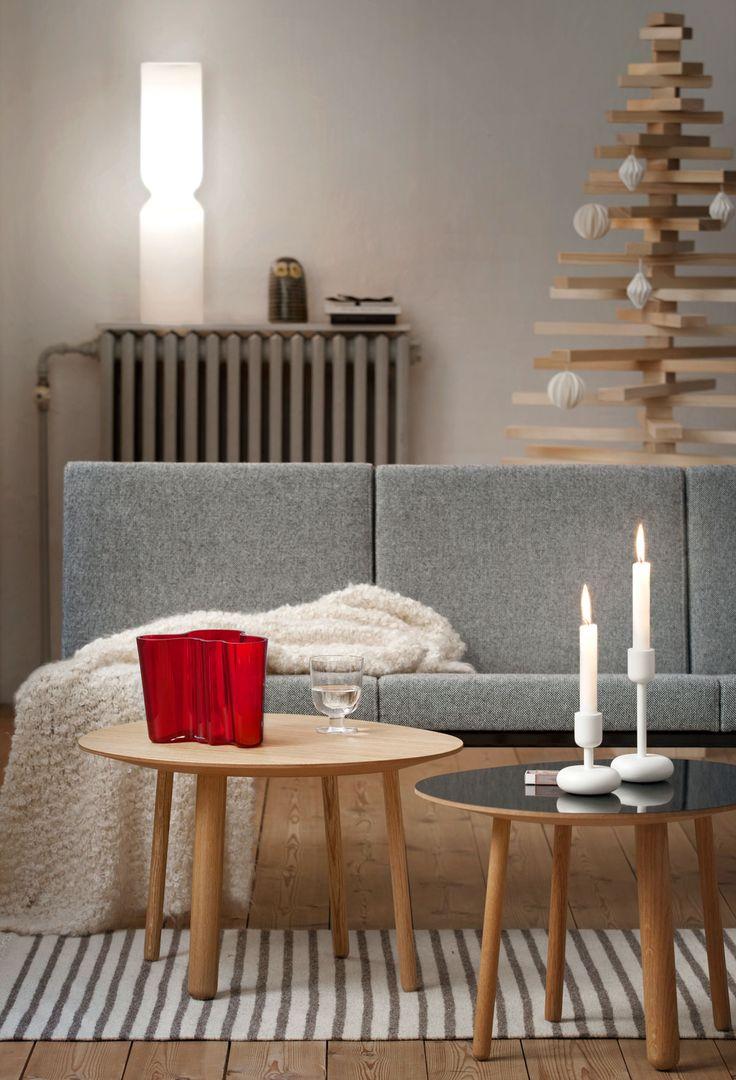 Iittala Aalto vase and Nappula candlesticks.