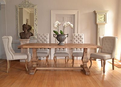 Reclaimed Dining Table   Pedestal Dining Table   La Residence Interiors, £950.00