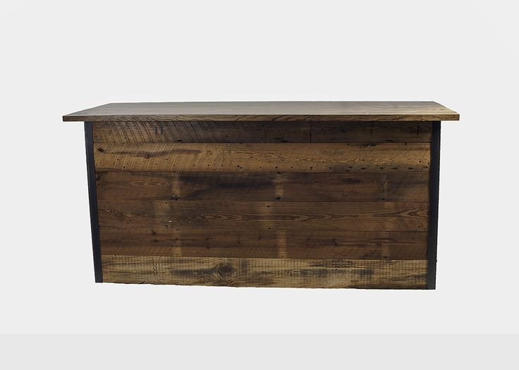 Lamon Luther | Curtis Barnwood Reception Desk | Handmade With Love From  Reclaimed Barn Wood.