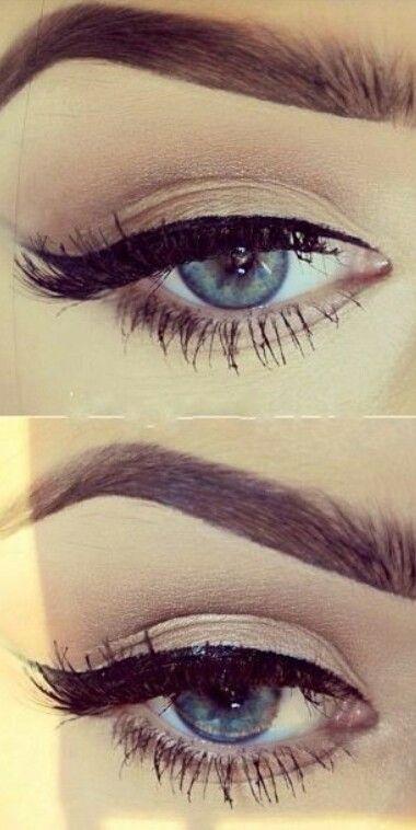 polished eye makeup.