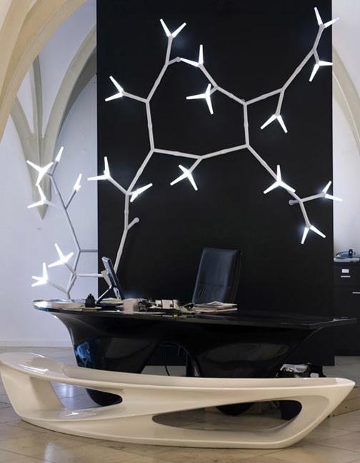 Sparks Modular Lighting System by Daniel Becker: Workplace Design, Modular Lights, Daniel Becker, Lights System, Offices Spaces, Sparkly Modular, Trees Branches, Modern Lights, Design Studios