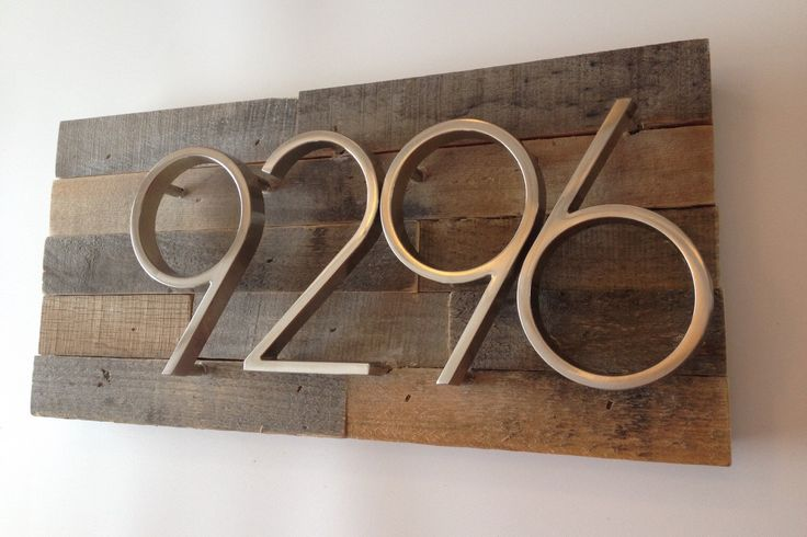 Rustic Address Plaque made from Reclaimed Wood - rustic custom, personalized, house numbers, address sign, cabin, cottage, housewarming gift by MadeWithBeerInHand on Etsy https://www.etsy.com/listing/224518996/rustic-address-plaque-made-from