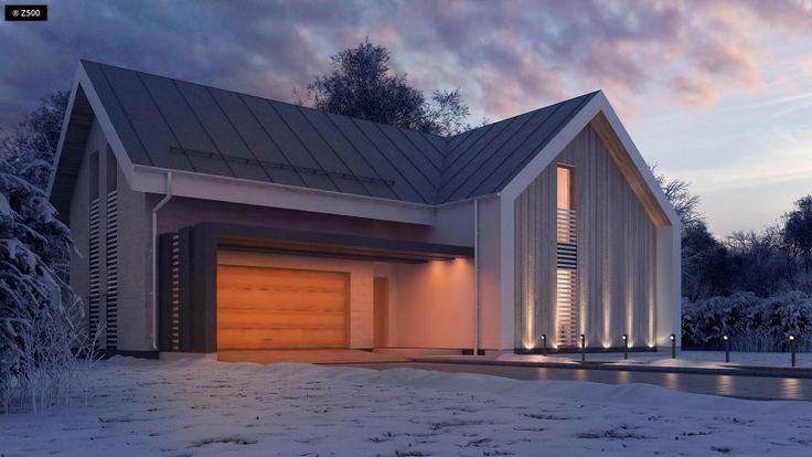 Projekt domu z antresolą, poddaszem użytkowym, spadzistym dachem i dwustanowiskowym garażem. Sprosta oczekiwaniom nawet najbardziej wymagającego inwestora.