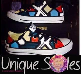 Awesome Ndebele Style Converse  www.uniquesoles-eh.com