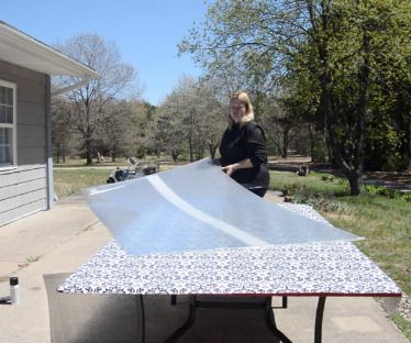 How To Replace A Broken Glass Patio Table Top (without Glass!)