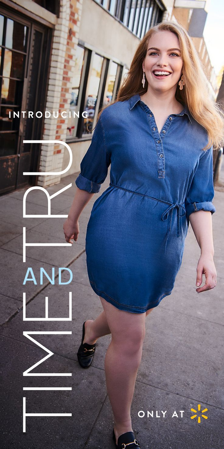 You can't go wrong in the lean silhouette of a body-skimming Women's Denim Dress with Tie. Throw on the right outfit and suddenly you're bringing it, with grace and style. That's what Time and Tru Women's apparel is designed to do. All our clothes work effortlessly together. The fashions, palettes, on-trend lines, and solid craftsmanship bring out your best. From flattering clothing with pretty details to wardrobe classics and accessories, find them all at Walmart.