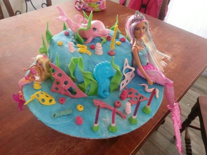Mermaid Barbie Cake For My 4 Year Old Barbie Girl In A