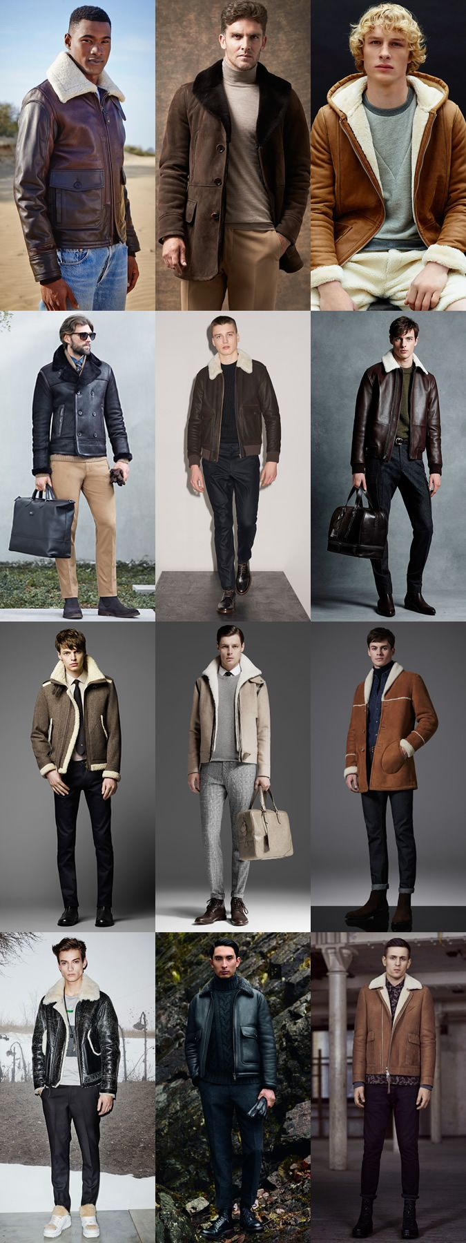 Men's 2015 Autumn/Winter Fashion Trend Preview: Shearling Outerwear/Jackets …