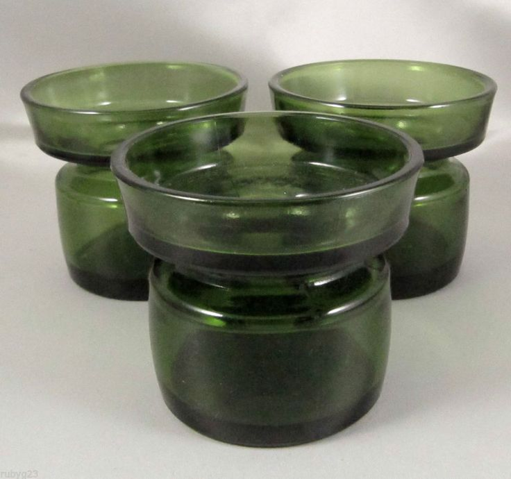3 Dansk Designs IHQ Quistgaard candles holders & 6 matching candles c.1970 (from our *emprades* ebay site).