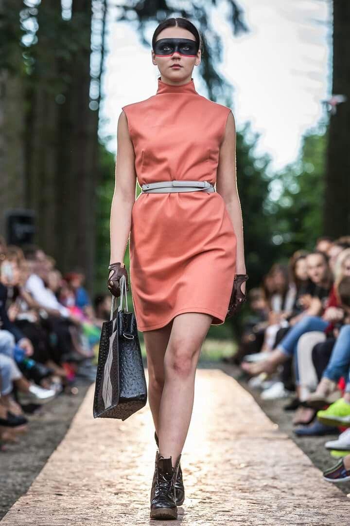 Wool dress, soft apricot, Wonderland by Lavinia Ilies