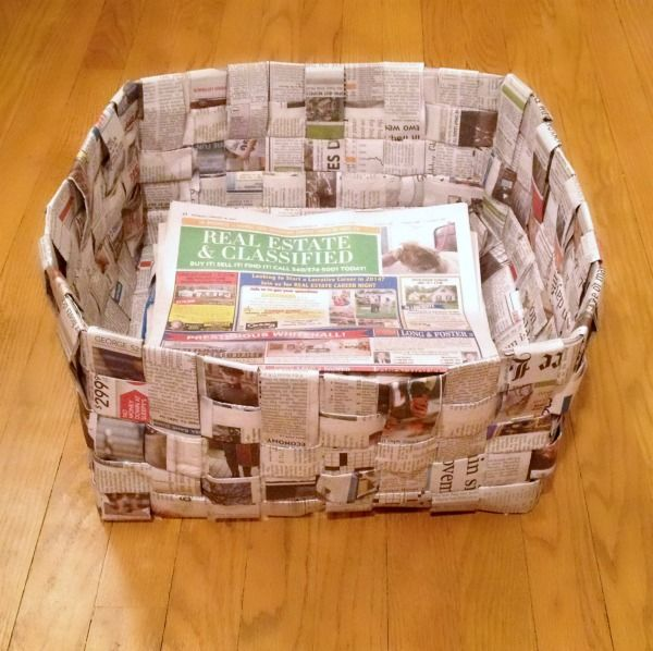 Newspaper Basket - WONDERMOM WANNABE I used to make these as a kid in all different sizes!