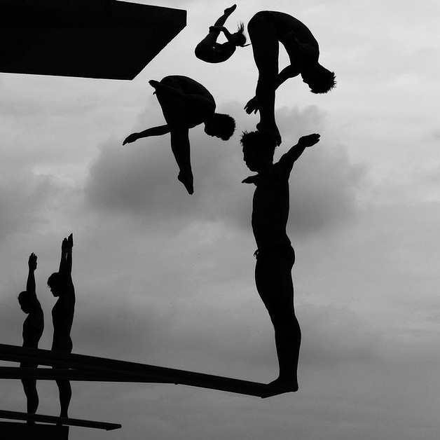 World Championship diving practice in China