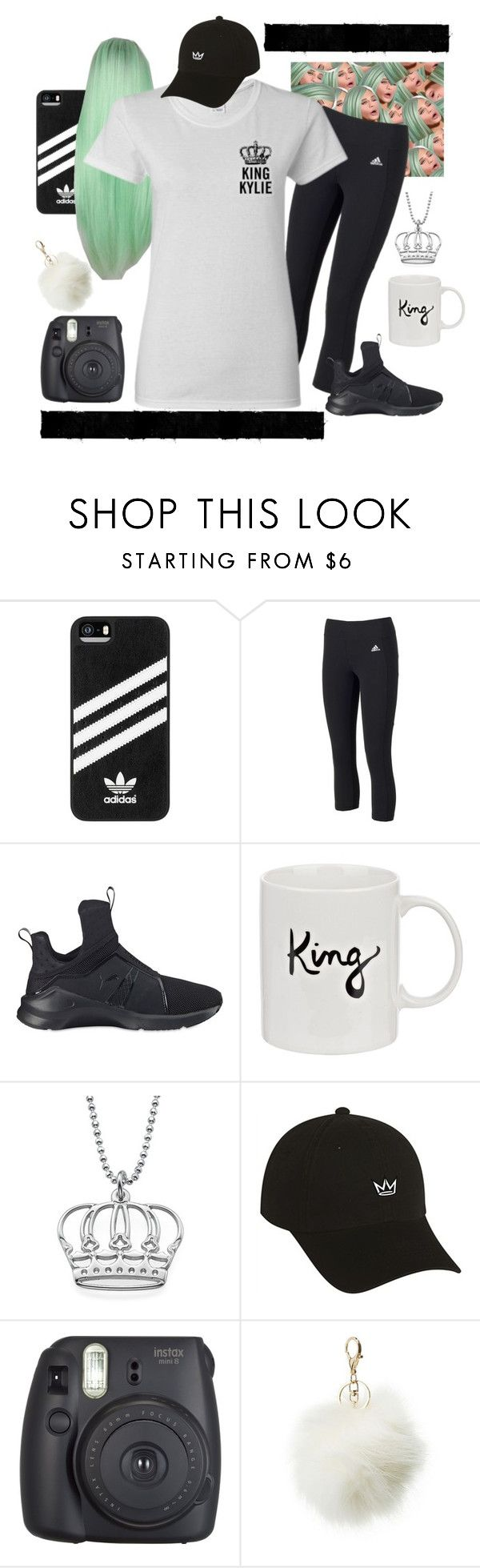 """""""King Kylie Womens T-shirts – htotheizzy Clothing"""" by htotheizzyclothing on Polyvore featuring adidas, Puma, Charlotte Russe, KylieJenner and kingkylie"""