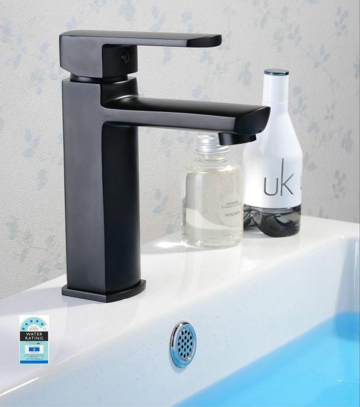 Quality MILAN Square Bathroom WELS Basin Flick Mixer Tap Faucet, In Matt Black #BRIGHTRENOVATIONINTERNATIONAL