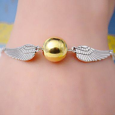 EUR € 2.99 - Classic Wing Shape Silver Alloy Charm Bracelet (1 Pc), Gratis Verzending voor alle Gadgets!