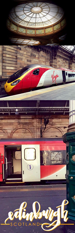 Viajando de trem de Edimburgo até Glasgow.