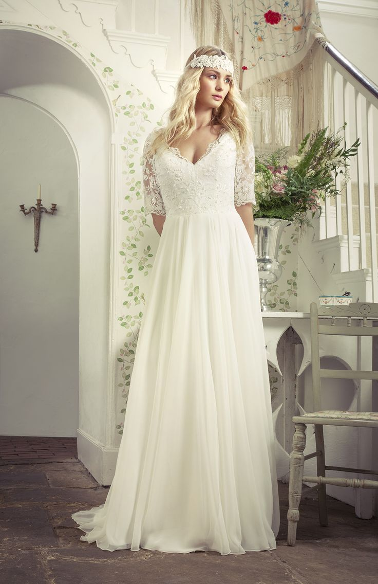 Wedding dresses for slim figures   best Wedding dresses images on Pinterest  Wedding frocks