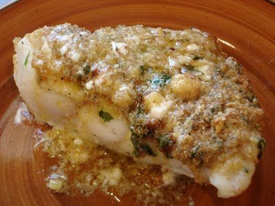 baked red snapper with garlic- just tried this tonight (we just didn't have Worsteshire sauce) and it was AMAZING!!! Would probably work with any kind of white fish :)