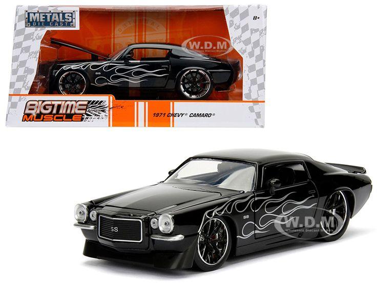 diecastmodelswholesale - 1971 Chevrolet Camaro SS Black with Flames 1/24 Diecast Model Car by Jada, $15.99 (https://www.diecastmodelswholesale.com/1971-chevrolet-camaro-ss-black-with-flames-1-24-diecast-model-car-by-jada/)
